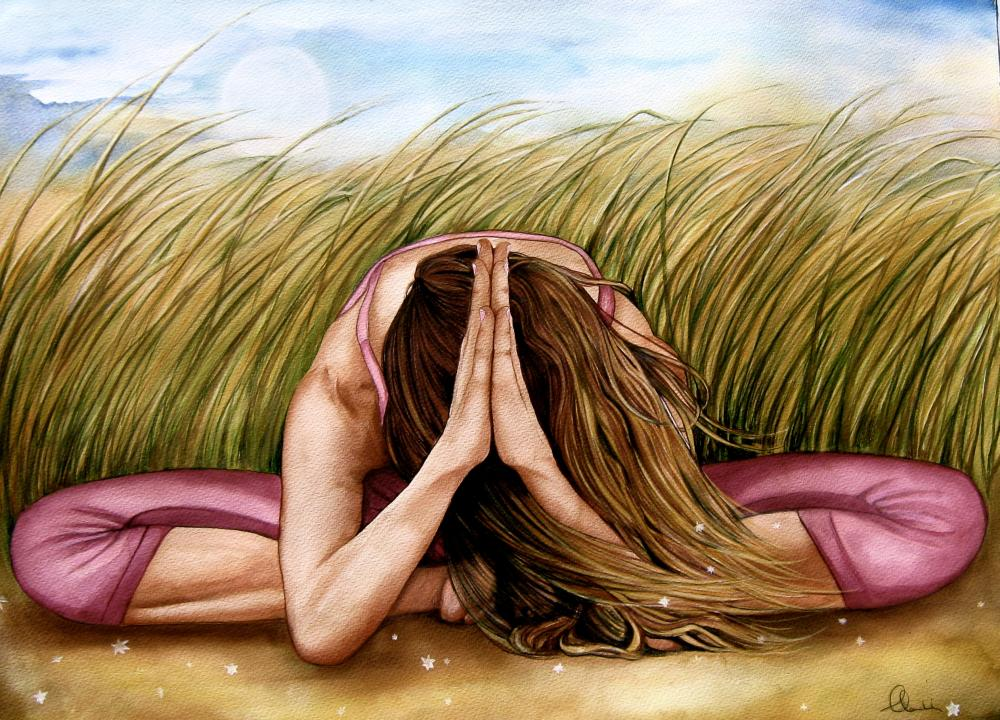 namaste yoga art print